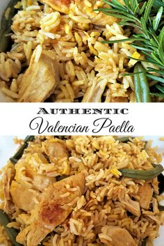 Authentic Valencian Paella recipe with chicken and green beans.