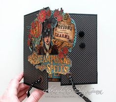 "ClayGuana: Graphic 45® ""Steampunk Spells"" Gate Fold Mini Album"