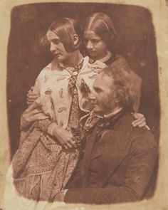 1843-1848 - James Fillans with his two daughters by David Octavius Hill, and Robert Adamson