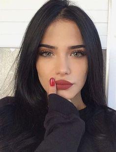 natural makeup, colored lip. #makeuplookseveryday #makeuplooks2017