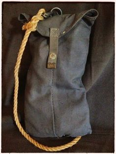 ae4eb67e83 camp gear  sisal rope - vintage army rope bag Kempingezés Lakóautóval