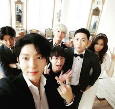 Actor Lee Joon Gi and Super Junior's Kim Heechul attended the wedding ceremony of Epik High's Mithra Jin and actress Kwon Da Hyun on October 2 at the Raum.