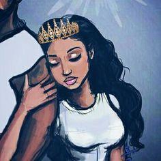 Image may contain: one or more people Black Couple Art, Black Love Art, Black Girl Art, Black Couples, Black Is Beautiful, Black Girl Magic, Art Girl, Black Art Painting, Black Artwork