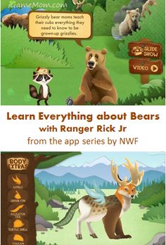 Learn everything about bear with Ranger Nick Jr - games, puzzles, and more fun activities Learning Apps, Kids Learning, Stem Learning, Preschool Science Activities, Preschool Activities, Nick Jr Games, The Very Cranky Bear, Best Educational Apps, Kindergarten Fun