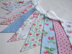 Shabby Chic Cath Kidston Bunting DOLLY MIXTURE by BlueSkyBunting