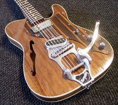Outcaster Guitar Custom electric hollow body guitars with Strat or Tele bodies and custom wood, pickup and hardware options. Guitar Body, Music Guitar, Guitar Chords, Cool Guitar, Ukulele, Guitar Art, Custom Acoustic Guitars, Custom Guitars, Telecaster Guitar