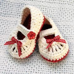 Lovely  Mary Jane Booties...   because someday I will learn how to crochet/knit