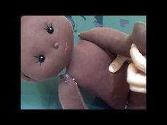 Boneca negra com 60 cm (primeira parte)