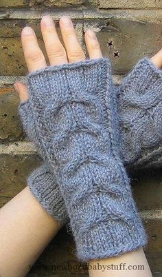 Baby Knitting Patterns Knitted in softest baby llama, these wristwarmers have mirro...