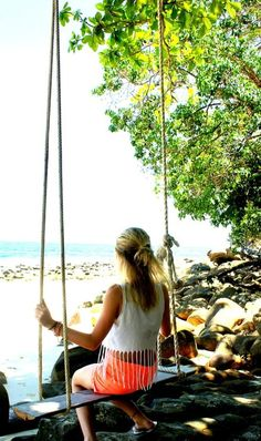 Someday I'll swing on a big swing like this..<3