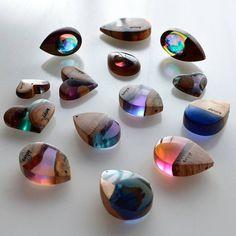 Wood Resin #pendants #woodandresin #woodworking #pendant #necklace #atelierdehors #レジン