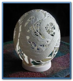 my egg carving, diy home crafts, Thumbelina Also an intaglio carving
