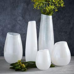 Luster Curve Vases – White   west elm