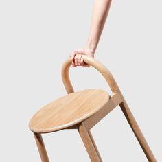 Furniture Trends Bobby Hocker von Daniel Tucker - DesignByThem My Child Steals Parents need to know Cafe Chairs, Dining Chairs, High Chairs, Room Chairs, Wooden Stool Designs, Kids Furniture, Furniture Design, Wood Stool, Stool Chair