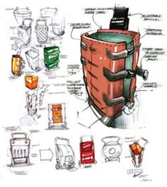 Sketched Suitcase Images