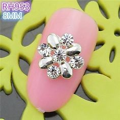 QINF 10PCS RH953 Special Design Flower Luxury Rhinestone 3D Alloy nail art DIY Nail beauty Nail Decoration Nail Salon *** Click image to review more details.