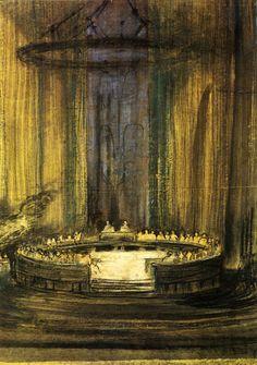 The Vikings at Helgeland (H. Ibsen) Set Design by E. Gordon Craig
