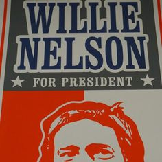 Willie Nelson - 2008 Uncle Charlie poster Houston TX HOB