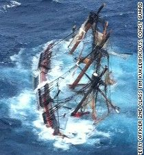 On Oct the 16 members of the Bounty abandoned ship off the coast of NC. The ship (a 1960 recreation of the original) was caught in the high 18 foot waves of Hurricane Sandy. Her captain and a descendent of mutineer Fletcher Christian were both lost. Abandoned Ships, Abandoned Places, Hms Bounty, Ghost Ship, Pirate Life, Shipwreck, Wooden Boats, Tall Ships, Water Crafts