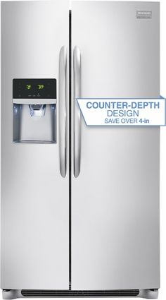 Frigidaire - Gallery 22.6 Cu. Ft. Frost-Free Side-by-Side Refrigerator with…