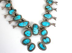 Squash Blossom Necklace Native American by WarrenExchange on Etsy, $1445.00