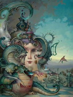 The Dragon. Paintings of Worlds of Surrealism Built on Life Experiences. By Daniel Merriam.