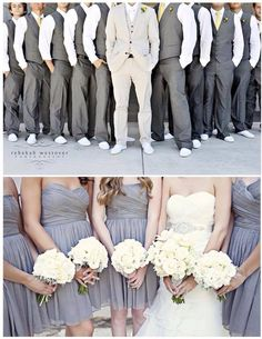 I like the groomsmen ' s outfits in this