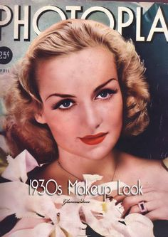 30's makeup: The art of women's make-up took off in strides during the 1930′s with the help of Hollywood glamour and the new rage of full color fashion magazines. However the look was much more refined than in the 1920s.