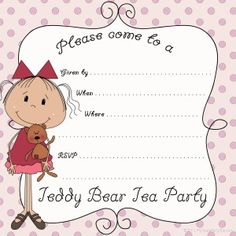 Teddy bear party invitation ideas invitationjdi crafty kids at home free printable teddy bear birthday party filmwisefo