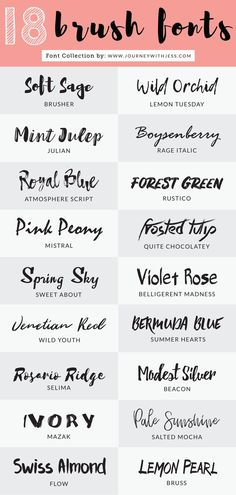 Free Font Collection: 18 Brush Fonts
