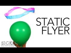 Static Flyer -- Charge a balloon and use the electrical charges of static electricity to create flying objects!