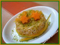 Risotto alla zucca con pancetta e pistacchio