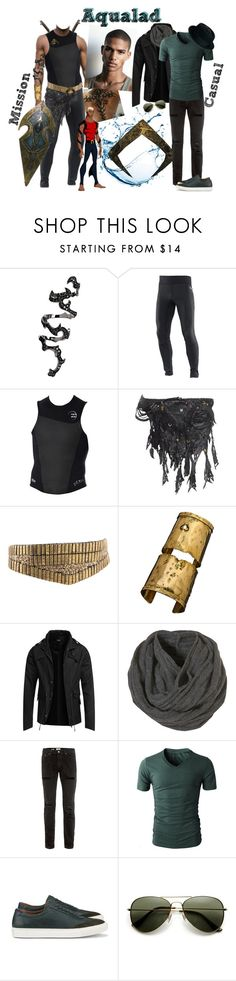 """""""Aqualad - Young Justice Team"""" by lulux3hdl ❤ liked on Polyvore featuring S.W.O.R.D., Salomon, KD2024, ASOS, Marvel Comics, Citrine by the Stones, Topman, ALDO, men's fashion and menswear"""
