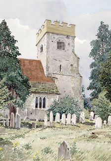 Send Parish Church Surrey - Church Art by John Lynch - Tower