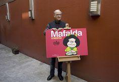 Feliz cumple!  O argentino Quino, criador das tirinhas da Mafalda, completa 80 anos