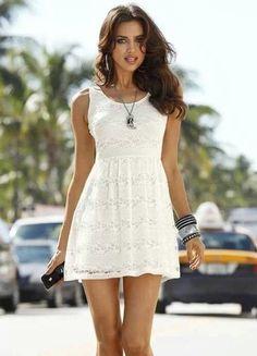 Surf Style white summer dress
