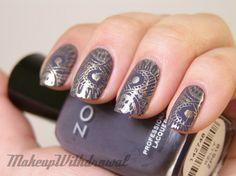 LOVE THIS! Makeup Withdrawal: Stamped: Sally Hansen Metallic Momentum over Zoya Kelly