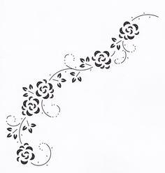 hobbydots patroon swirl met roosjes