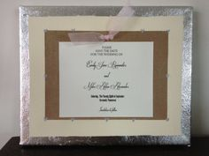 Decoupaged wedding invitations and baby by DeceauxArt on Etsy, $50.00