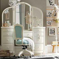 Beautiful vintage dresser tocador vintage blanco precioso