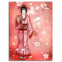Geisha pink silhouette