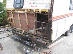 Rv Trailer Water Damage Repair Campers Camper Rv