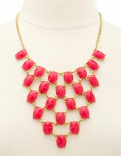 Tiered Oval Stone Necklace: Charlotte Russe
