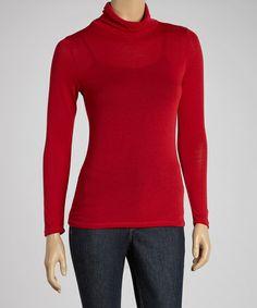 Look what I found on #zulily! Red Turtleneck - Women by J-MODE #zulilyfinds
