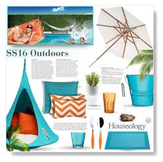"""""""Contest Entry: Houseology SS16 Outdoors"""" by desert-belle ❤ liked on Polyvore featuring interior, interiors, interior design, home, home decor, interior decorating, Cacoon, Guzzini, LSA International and ASA"""