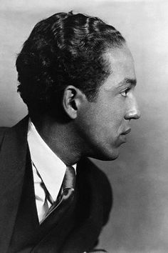 Harlem Renaissance intellectual and jazz poetry pioneer Langston Hughes