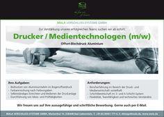 Stellenbezeichnung: Drucker / Medientechnologe m/w  Arbeitsort: 36448 Bad Liebenstein Thüringen, Deutschland  Weitere Informationen unter: http://stellencompass.de/anzeige/?id=139422