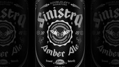 Sinistra Beer. Amber Ale, 630ml, 6,5% Alc/Vol --- Branding, Concept, Illustration and Art Direction by Rômulo Lebre 3D Render by Camila Tomo #beer #amberale #sinistra #doubleleft #romulolebre #camilatomo