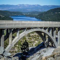 Lake - Bridge - Tree. Donner Pass California