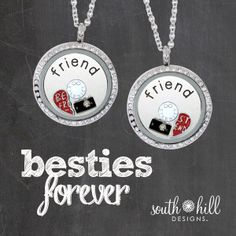 Best Friends Charm!  One Heart, Two Charms!  South Hill Designs